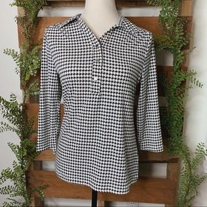 212 Collection   Houndstooth Collared Blouse